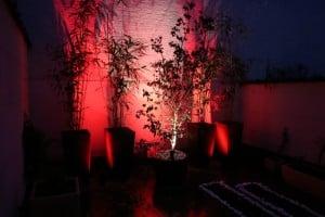 luminaires led extérieur rouge