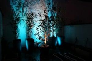 luminaires led extérieur turquoise