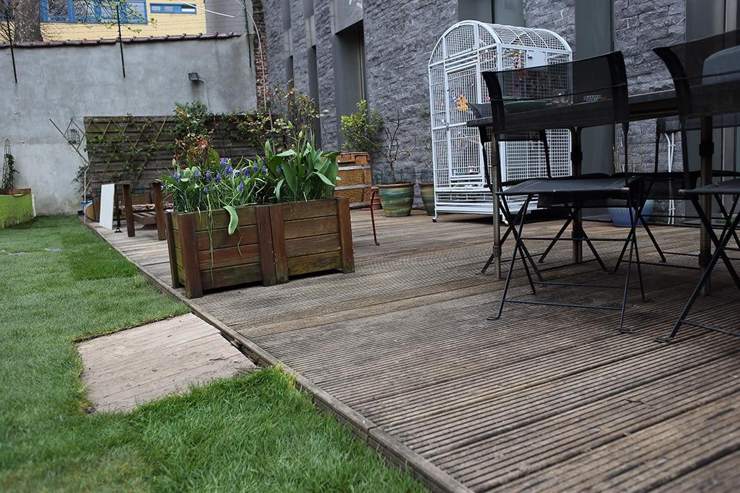 technique nettoyage en profondeur d 39 une terrasse en bois exotique plaisir vert jardinier. Black Bedroom Furniture Sets. Home Design Ideas