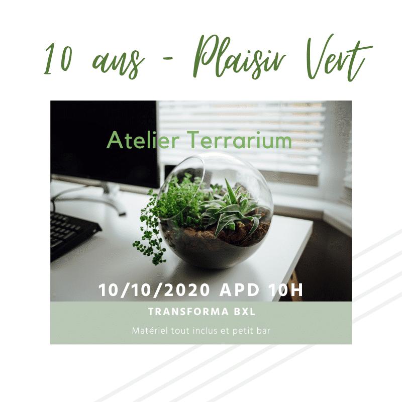 10 ans plaisir vert - atelier terrarium